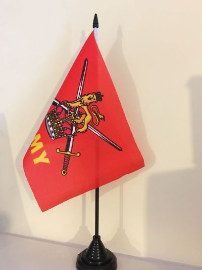 BRITISH ARMY TABLE FLAG (MEDIUM 22.5cm x 15cm)